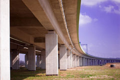 Under the highway Stock Image