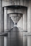 Under the highway and the sea Royalty Free Stock Photography
