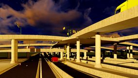 Under the highway. Urban scene Royalty Free Stock Image