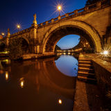 Under the Holy Angel Bridge at Dawn Stock Photography