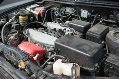 Under the hood of a car Stock Image