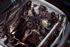 Under the hood of car Royalty Free Stock Image