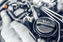 Under the hood of the car. Stock Photo
