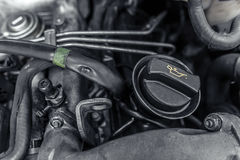 Under the hood of the car. Royalty Free Stock Images