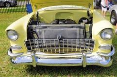 Under hood classic car Stock Image