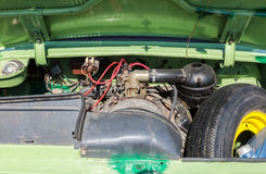 Under the hood of a retro soviet vehicle, engine of ZAZ 968M Zap. Samara, Russia - May 1, 2017: Under the hood of a retro soviet vehicle, engine of ZAZ 968M Stock Image