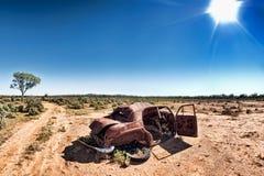 Under a hot sun stock photography