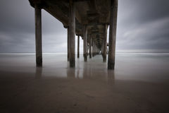 Under the Huntington Beach Pier Royalty Free Stock Photography