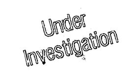 Under Investigation rubber stamp Stock Photography