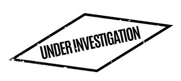 Under Investigation rubber stamp Royalty Free Stock Image