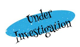 Under Investigation rubber stamp Royalty Free Stock Photography