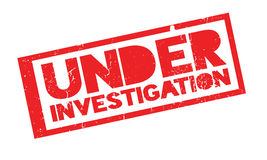 Under Investigation rubber stamp Royalty Free Stock Photo