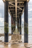 Under the jetty of La Tranche-sur-Mer Royalty Free Stock Image