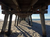 Under the jetty stock photography