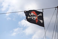 Under Jolly Roger Royalty Free Stock Images