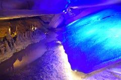 Under jordningen är grottan Royaltyfri Foto