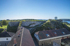 Under king's bastion at fredriksten fortress Stock Image