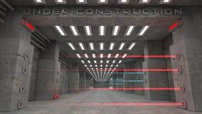 Under konstruktion vektor illustrationer
