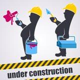 Under konstruktion Arkivfoton