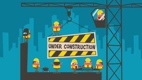 Under konstruktion royaltyfri illustrationer