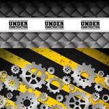 Under konstruktions- och kugghjuldesign Royaltyfri Foto
