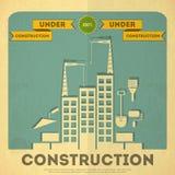 Under konstruktionsaffischdesign Arkivbild
