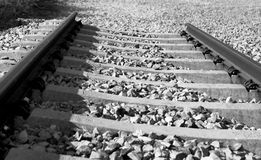 Under konstruktionsjärnväg Royaltyfri Bild