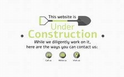 Under konstruktionssidan för en kommande website Arkivfoton