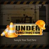 Under konstruktionstecken royaltyfri illustrationer