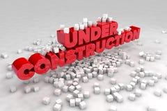 Under konstruktionstecken med kvarter av kuber vektor illustrationer
