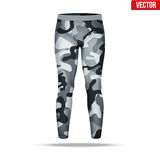 Under layer compression pants with in camouflage style. Royalty Free Stock Images