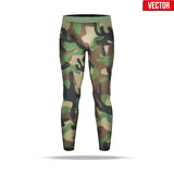 Under layer compression pants with in camouflage style. Stock Images
