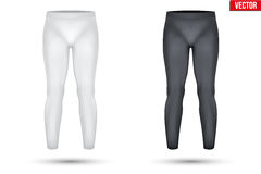 Under layer compression pants of thermo fabric Stock Photos