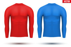 Under layer compression shirt with long sleeve of Royalty Free Stock Photo
