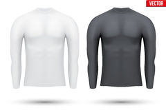 Under layer compression shirt with long sleeve of. Base layer compression shirt with long sleeve of thermo fabric. Sample typical technical illustration.  Vector Royalty Free Stock Image