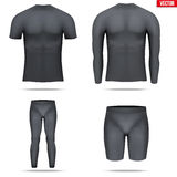Under layer compression shirt with long sleeve of thermo fabric Stock Photo