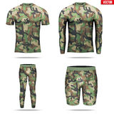 Under layer compression shirt with long sleeve of thermo fabric Stock Images