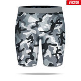 Under layer compression shorts with in camouflage style. Stock Image