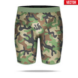Under layer compression shorts with in camouflage style. Stock Photos