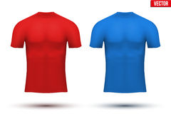 Under layer compression t-shirt of thermo fabric Stock Photos