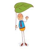 Under leaf umbrella Royalty Free Stock Images