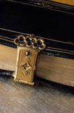 Under Lock. The good book locked up Royalty Free Stock Photo