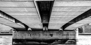 Under the London Bridge Royalty Free Stock Image