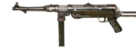 Under-Machinegun som MP-38 isoleras på vit Arkivbilder