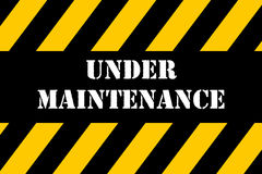 Under Maintenance Banner. Industrial design of Under maintenance sign Stock Images