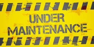 Under Maintenance Stock Photo