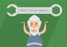 Under Maintenance Illustration. Vector art illustration, under maintenance, tools and web utility Royalty Free Stock Photography