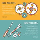 Under Maintenance Website Page Message Banners Stock Image