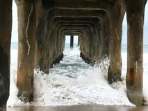 Under Manhattan Beach Pier 2 Royalty Free Stock Images