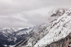 Under Marmolada glacier, Dolomites, Italy Stock Photography